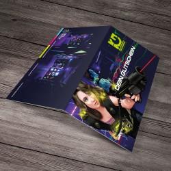 Geschenk-Klappkarte für Lasergame Chemnitz Gutschein